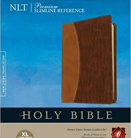 Tyndale House Publishers NLT Slimline Reference Bible, Large Print, TuTone 7604