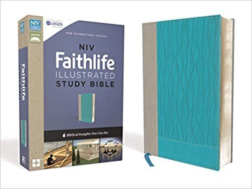 Barry, John D NIV Faithlife Illustrated Study Bible, Imitation Leather, Gray/Blue, Indexed: Biblical Insights You Can See 0641