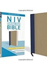 NIV Thinline Bible Giant Print Blue/Tan 8570