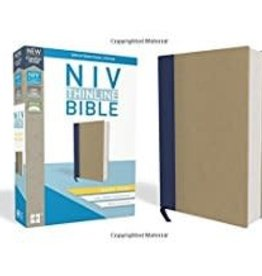NIV Thinline Bible Giant Print Blue/Tan 8570