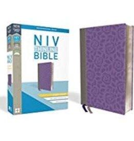 NIV Thinline Bible Giant Print Gray/Purple 8655