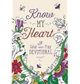 Susan Jones Know My  Heart:  A Color-And-Pray Devotional 2830