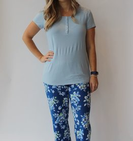 Cool Girl Pj Tee/Pant Floral Daze