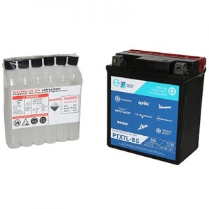Parts Battery, Piaggio OEM Y/PTX7L-BS (584662/1R000317)