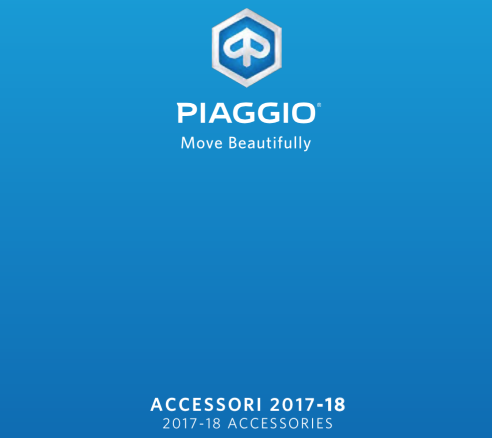 2018 Piaggio accessory cover