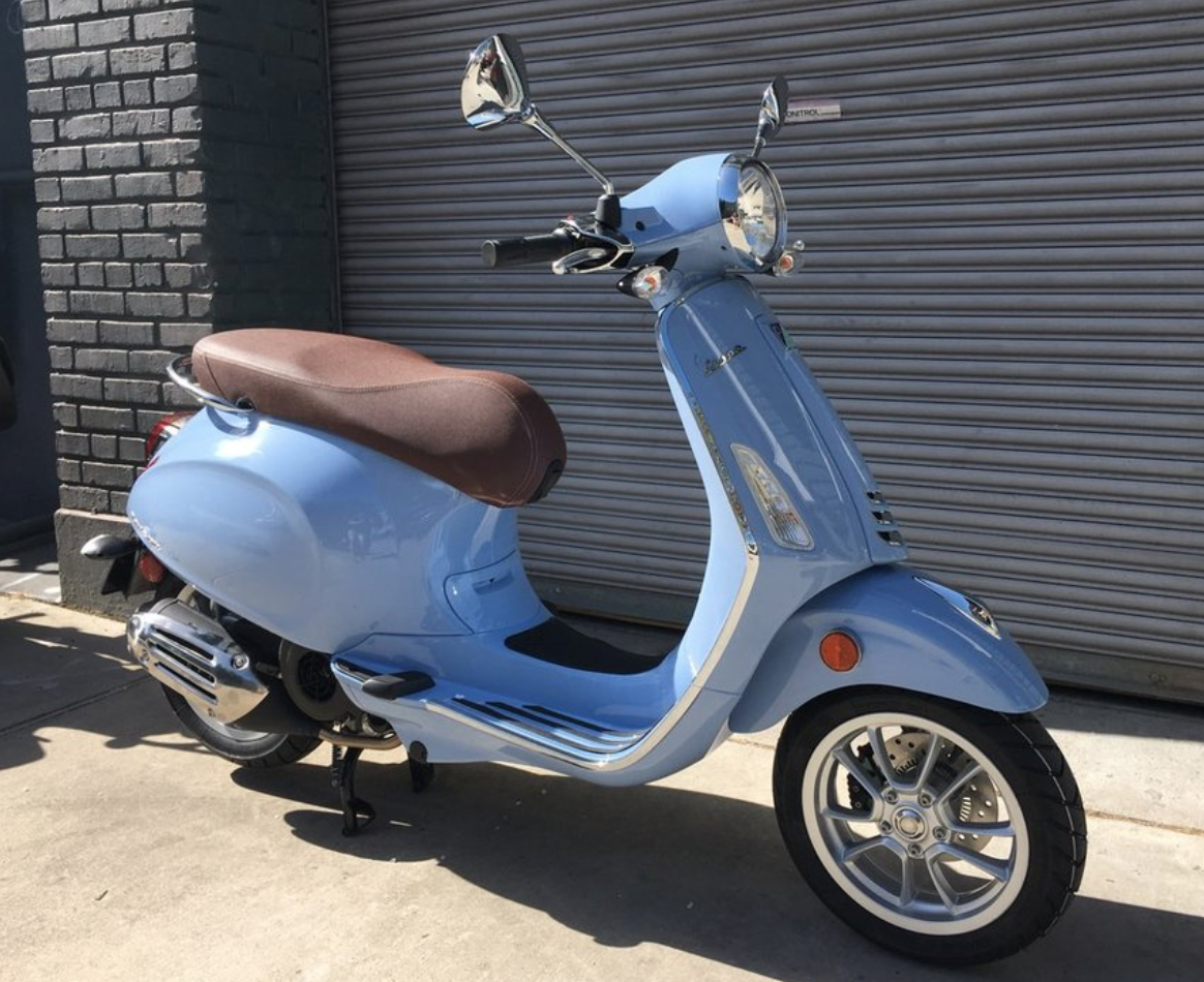 Vehicles Vespa, 2019 Primavera iGET 155cc ABS Azzuro Incanto