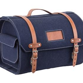 Accessories Top Case, Vespa Leather Strap Blue Jean