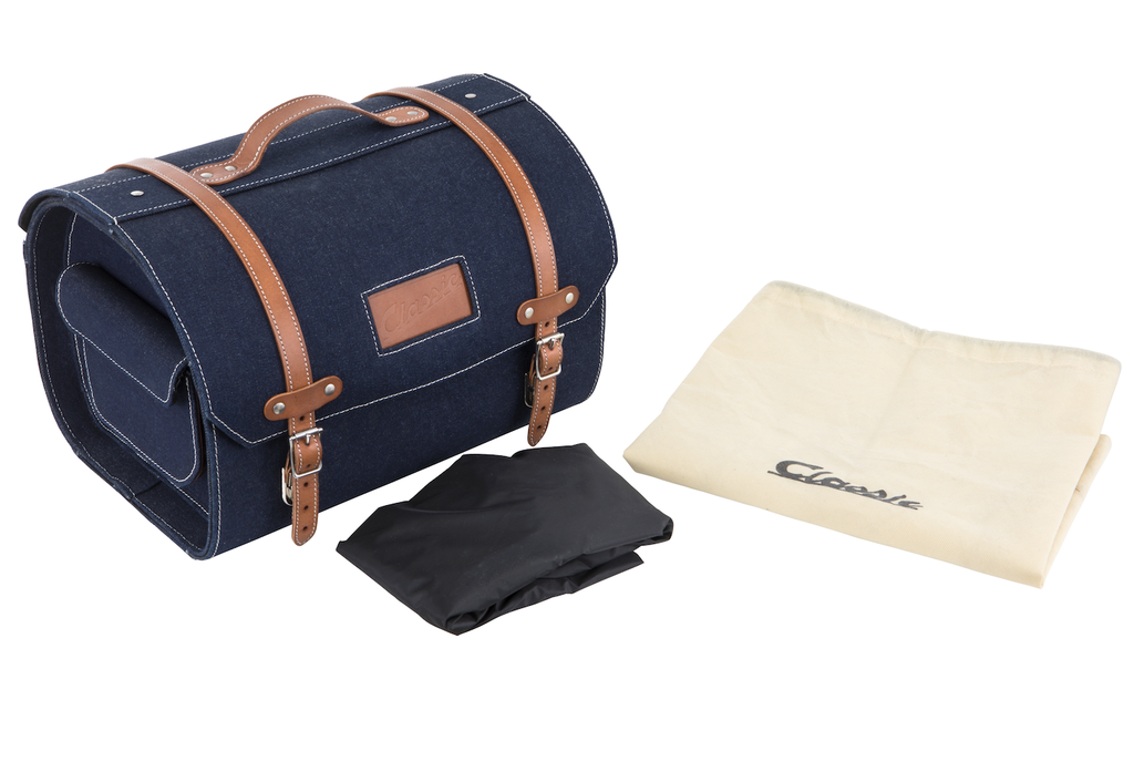 Accessories Top Case, Vespa Leather Strap Blue Jean