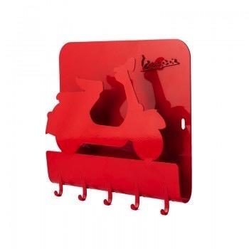 Lifestyle Key Rack, Vespa Red Metal