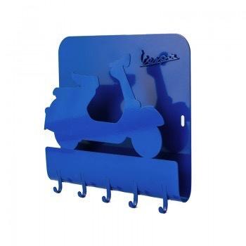 Lifestyle Key Rack, Vespa Blue Metal