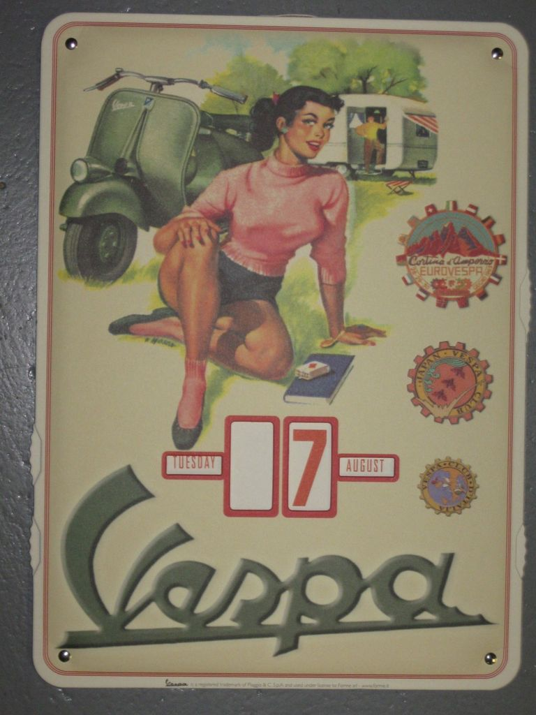 Lifestyle Calendar Vespa Picnic
