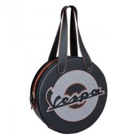 Lifestyle Wheel Shape Bag Black Flourescent Vespa Logo