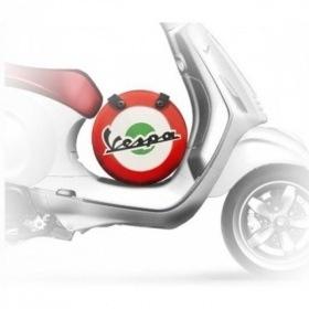 Lifestyle Wheel Shape Bag Black Flourescent Vespa Logo