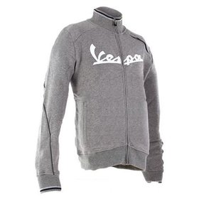 Apparel Vespa Zip Front Sweatshirt Grey Medium