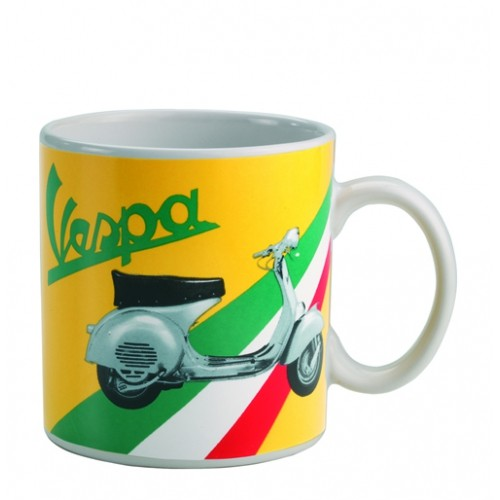 Lifestyle Coffee Mug Vespa GS Yellow ITL Flag