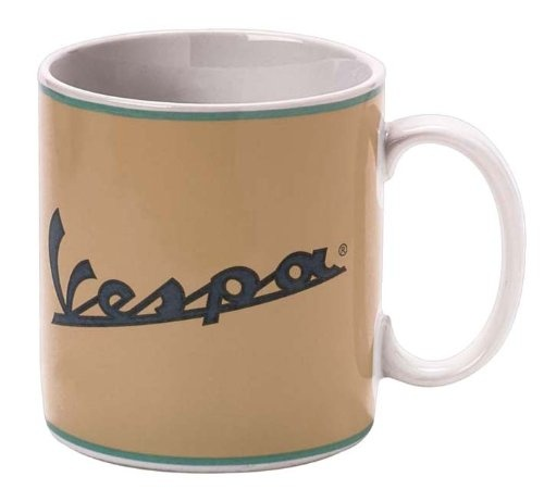 "Lifestyle Coffee Mug ""Vespa"" Logo Cream"