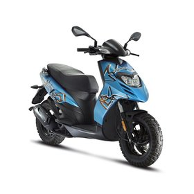 Vehicles 2018 Piaggio Typhoon 50cc 4-Valve Neptune Blue