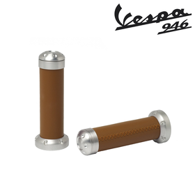 Accessories Brown Leather Hand Grips Vespa 946