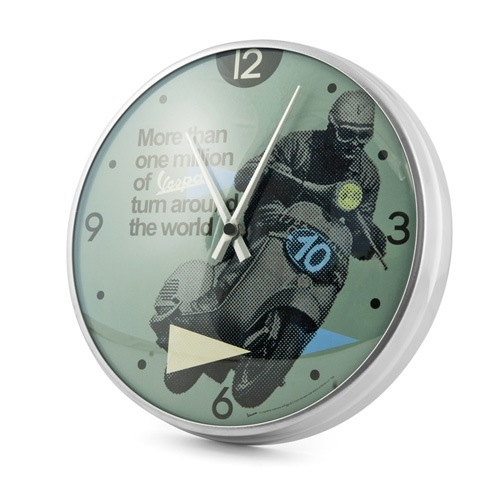 """Lifestyle Wall Clock Vespa """"More Than One Million.."""" 12.60"""""""