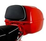 Accessories Back Rest Black/Pink Piping Vespa S/LX Top Case