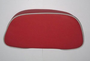 Accessories Back Rest Red/White Piping Vespa S/LX Top Case