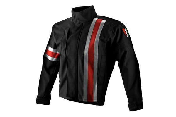 Apparel Jacket Men's Corazzo 5.0 Black (Red Stripe) X-Large