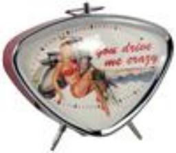 Lifestyle Alarm Clock Vespa Bikini Pin Up