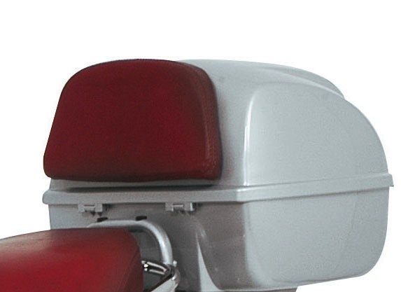 Accessories Back Rest Red Leather Vespa S/LX/LXV Top Case