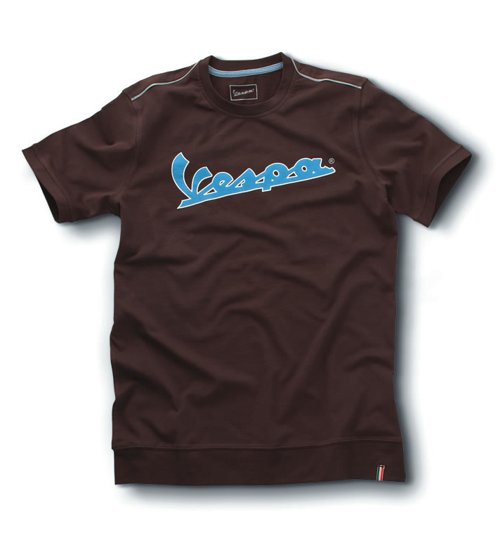 Apparel T-Shirt Men's Vespa 3M Strip Brown Medium