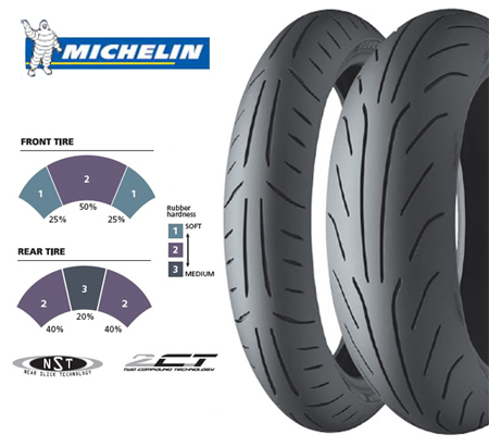"Parts 120/70-12"" Michelin Power Dual Compound"