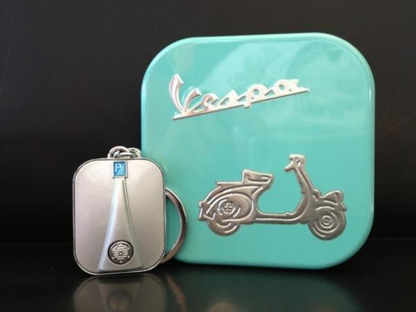 Lifestyle Keychain Vespa Legshield Grey