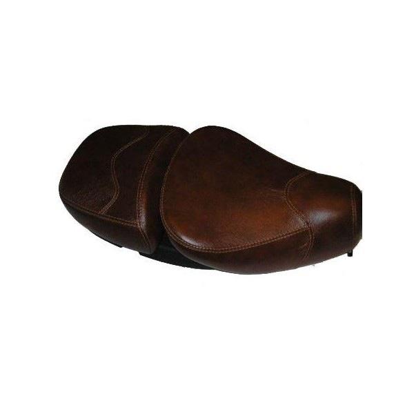 Parts Saddle/Buddy Seat Brown Leather Vespa S/LX/LXV