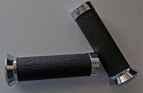 Accessories Hand Grips Black Leather Vespa S/LX/LXV