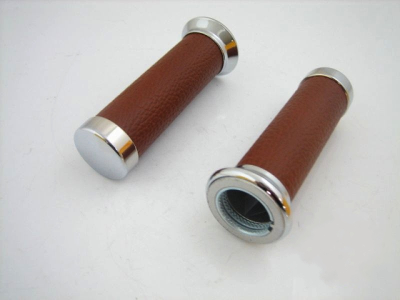 Parts Hand Grips Brown Leather Vespa S/LX/LXV