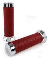 Parts Hand Grips Red Leather Vespa S/LX/LXV