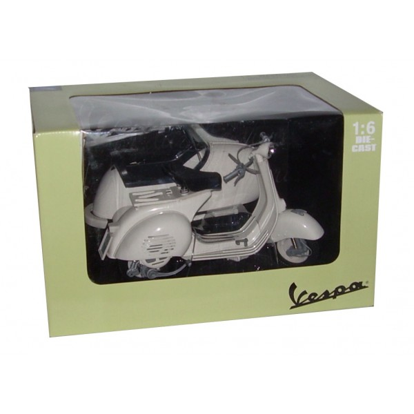 Lifestyle Vespa Scooter Model Toy 1:6 Scale With Side Car