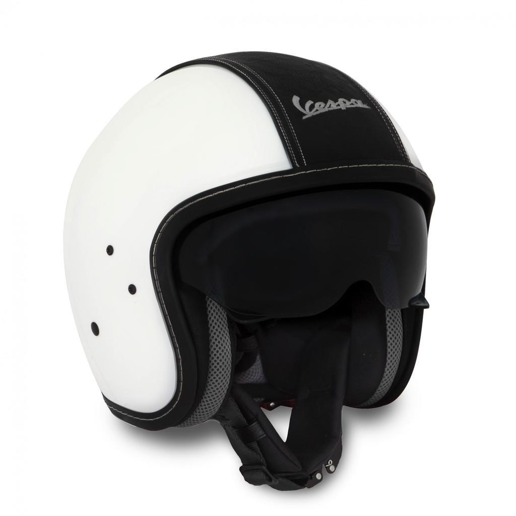 Apparel Helmet, Vespa Jet Fibre Lux White