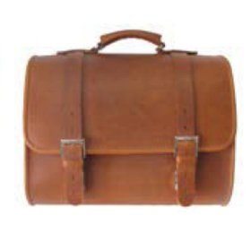 Accessories Top Case, Vespa Leather Bag Brown