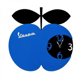 Lifestyle Clock, Vespa Apple Wall Clock Blue