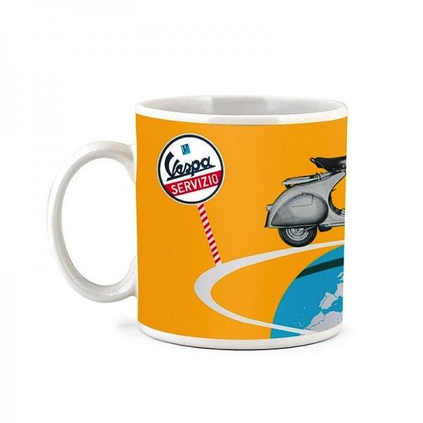 "Lifestyle Coffee Mug, ""The World On Two Wheels With Vespa"""