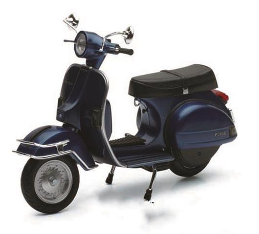 Lifestyle Toy, 1978 Vespa P200E 1:12 Dark Blue Metallic