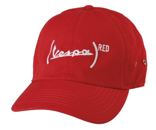 Apparel Hat, Vespa (RED) Ball Cap