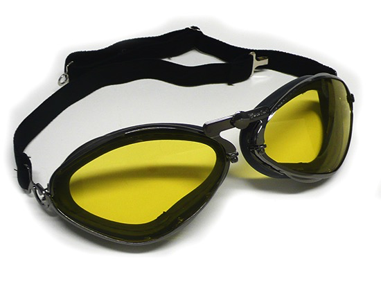 Apparel Goggles Leon Jeantet Aviator Gun Metal Black