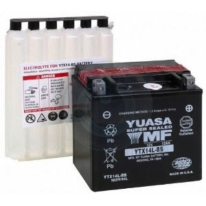 Parts Battery, YTX14L-BS (+on right)