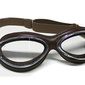 Apparel Goggles Leon Jeantet Aviator Chrome Brown