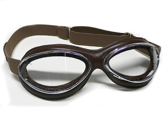 Apparel Goggles Leon Jeantet Aviator Chrome Brown