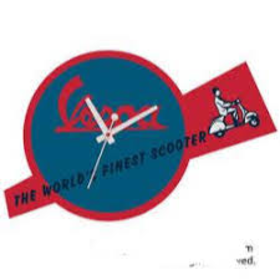 """Lifestyle Wall Clock, """"Worlds Finest Scooter"""""""