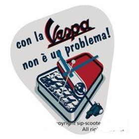 "Lifestyle Wall Clock, Vespa ""No Problema"""
