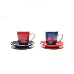 Lifestyle Espresso Cup Set, 2-Piece Vespa Red/Blue