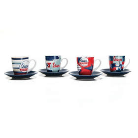 Lifestyle Espresso Cup Set, 4-Piece Vespa Blue/White/Red